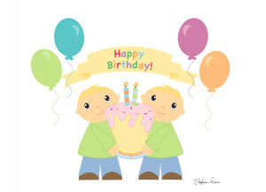 Happy Birthday Twins Cards Happy birthday asif javed