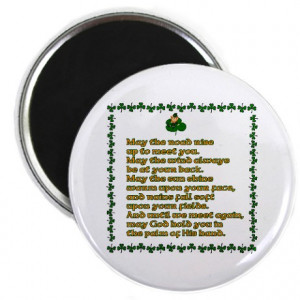 Irish Sayings, Toasts and Ble Magnet