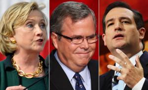 ... Clinton, Jeb Bush or Ted Cruz presidential bid? Photos by Getty Images