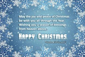 Wishing You Joy and Peace Of Christmas