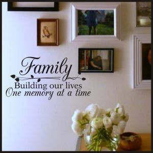 Family Memories Quote | New Designs & Best Sellers Christian Wall ...