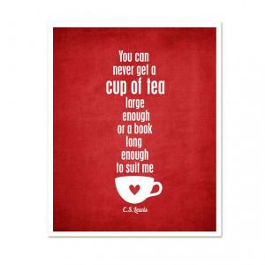 book, cute, print, quote, tea, text