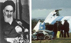 Did Ayatollah Khomeini (L) order the downing of the Pam Am flight 103 ...