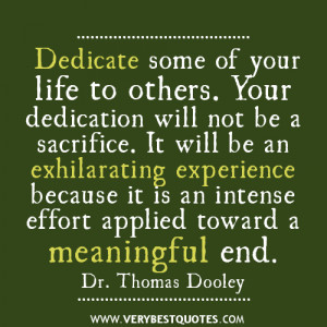 Dedication And Sayings