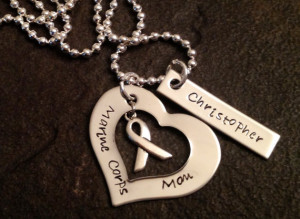 Marine corps mom necklace with personalization hand stamped army navy ...