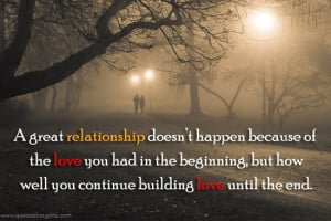 Relationship Quotes Thoughts A great relationship Love Best Quotes