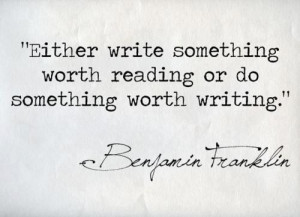 ben franklin writing quote