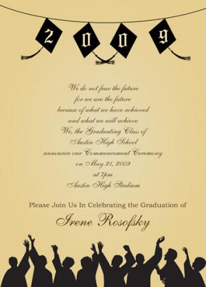 Graduation Party Invitations Wording Graduation Party Invitation