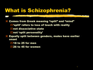 definition of paranoid schizophrenia Schizophrenia is a serious mental illness characterized by incoherent or illogical thoughts, bizarre behavior and speech, and delusions or hallucinations, such as.
