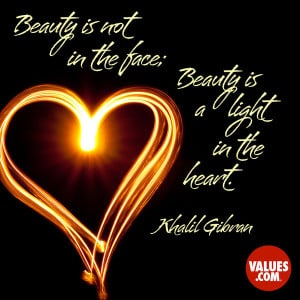 An inspiring quote about #truebeauty from www.values.com #dailyquote # ...