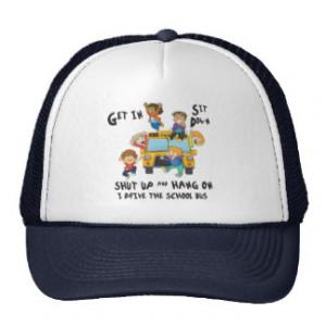 Funny School Bus Driver Back to School Mesh Hat