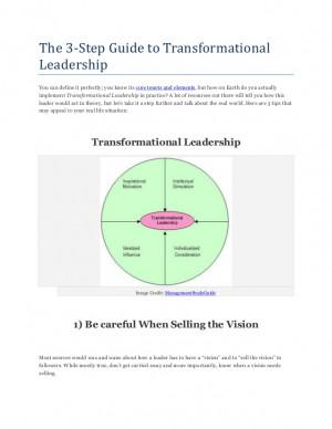 Transformational Leadership...