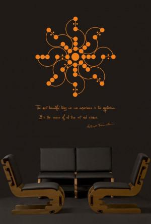 Science art physics Albert Einstein quote & mysterious crop field ...