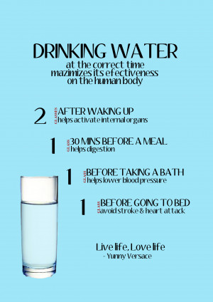 Drinking Water At The Correct Time ~ Health Quote