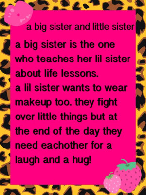 Big sister and little sister quote