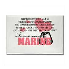 Marine Girlfriend Fridge Magnets