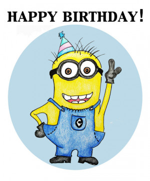 Minions Saying Happy Birthday