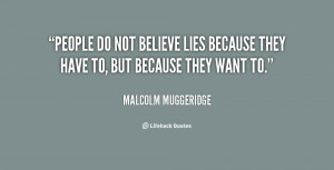 Believing Lies Quotes