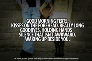Good Morning Texts Kisses The Forehead Really Long