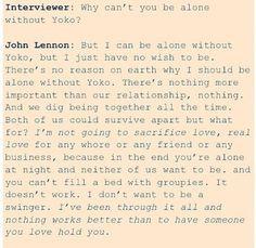 Yoko Ono And John Lennon Quotes John lennon on yoko ono-