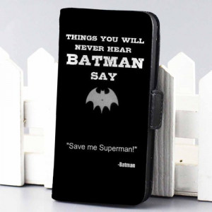 Home wallet case Batman Quotes Save Superman Superheroes wallet case ...