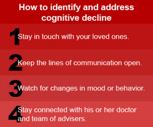 How to identify and address cognitive decline