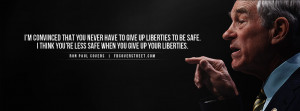 Ron Paul Liberty For Safety Quote Ron Paul Regulating Speech Quote