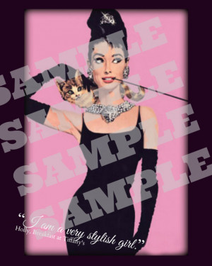 Audrey quote Breakfast at Tiffany's print