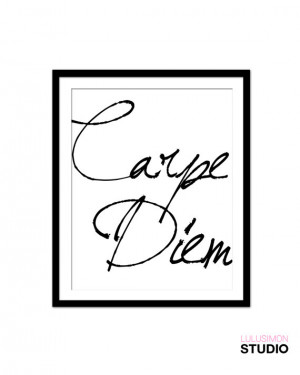 ... Bedroom Decor - Carpe Diem Art - French Quote - Inspirational Signs