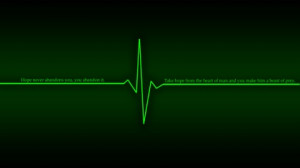 green dark quotes hope heart beat littleteufel 1920x1080 wallpaper Art ...