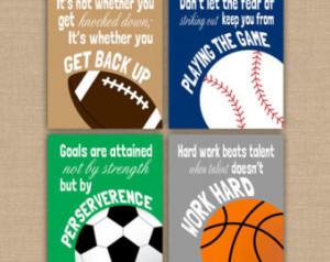 Never Give Up Quotes Sports Basketball Football soccer baseball