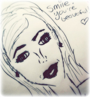 art, beautiful, drawing, quotes, smile