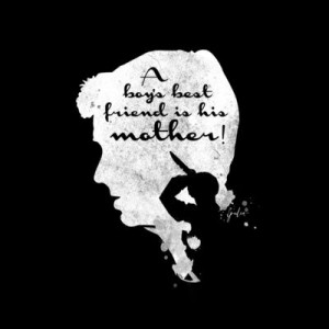 Boy's best friend – Norman Bates Psycho Silhouette Quote by Spades