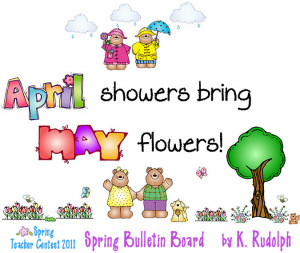 cute spring sayings for bulletin boards