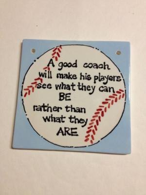 Coach Gift- A Sports Tile- Baseball/ Soccer/ Football/ Volleyball ...