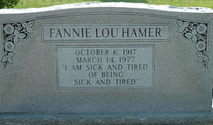 Fannie Lou Hamer Headstone