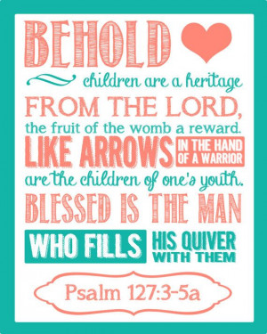 Baby Shower Or Home Decoration Bible Verse by BoshaCards on Etsy, $6 ...