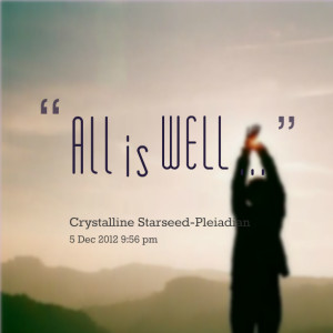 Quotes Picture: all is well