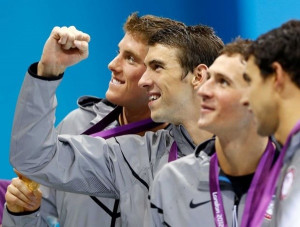 conor dwyer, MICHEAL PHELPS, ryan lochte, ricky berens. :)