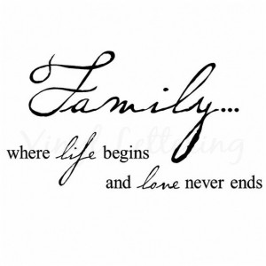 Family, Where Life Begins And Love Never Ends: Quote About Family ...