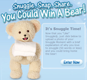 Snuggle Teddy Bear Stuffed