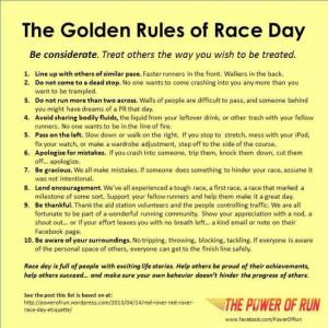 Great #race day etiquette. Swirlgear #fitgirl fit for life @Swirlgear ...