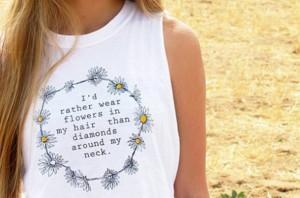 Daisy Quotes Tumblr Daisy headband top quote