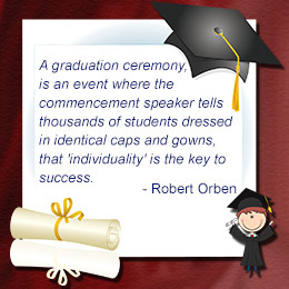 Robert Orben on graduation