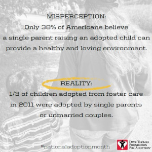 Reality: 1/3 of children adopted from foster care were adopted by ...