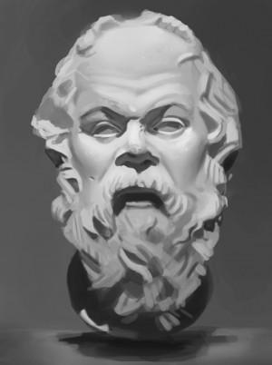 Speedpaint: Socrates Bust