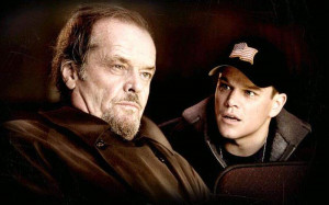 Jack Nicholson as Frank Costello and Matt Damon as Colin Sullivan in ...