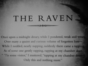 quote Black and White text gothic Edgar Allan Poe The Raven