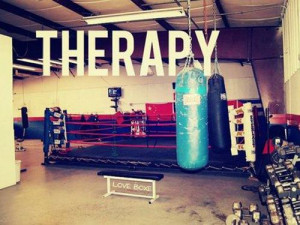 Therapy...seriously there is nothing better than hitting up the gym to ...