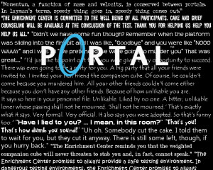 Portal GLaDOS Quotes Wallpaper by LemonFudge